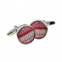 Christmas Jumper Design Round Cufflinks